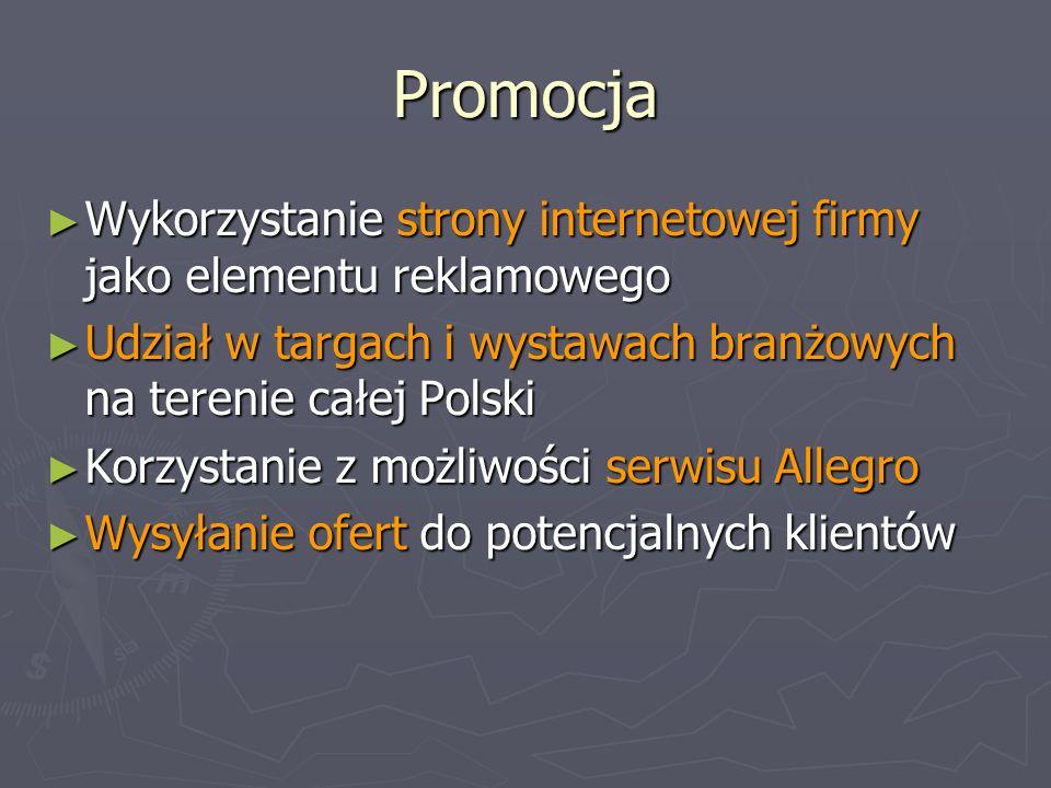 Promocja Wykorzystanie strony internetowej firmy jako elementu reklamowego Wykorzystanie strony internetowej firmy jako elementu reklamowego Udział w