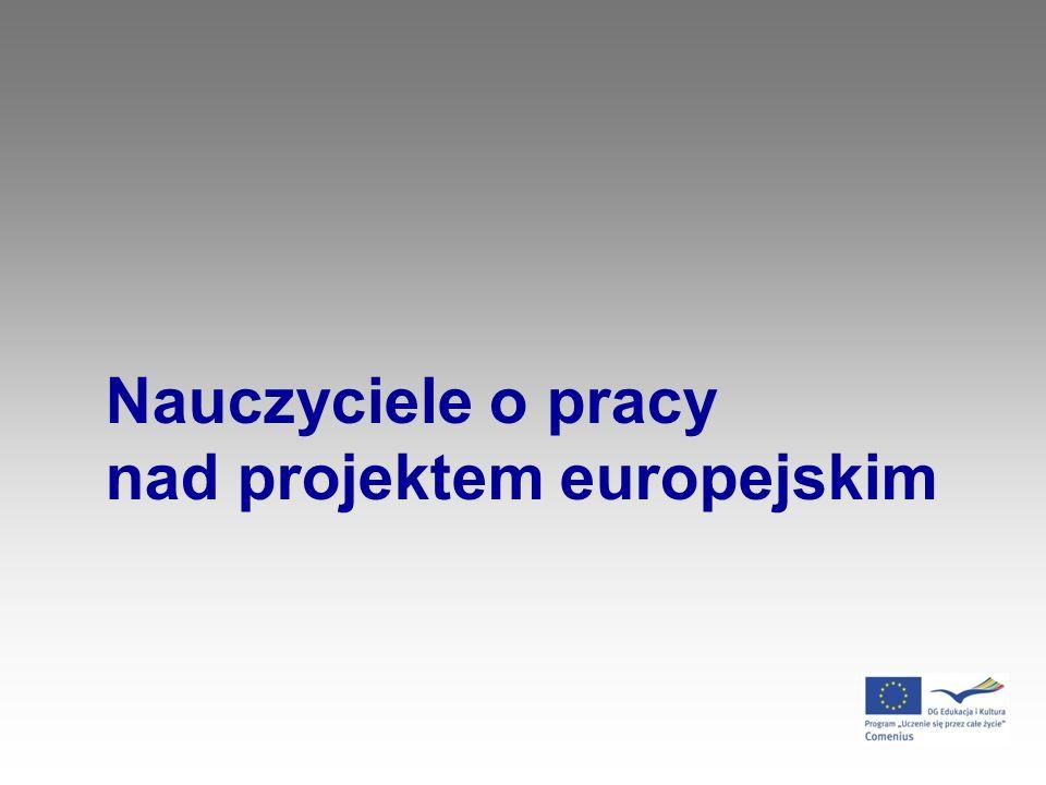 Nauczyciele o pracy nad projektem europejskim