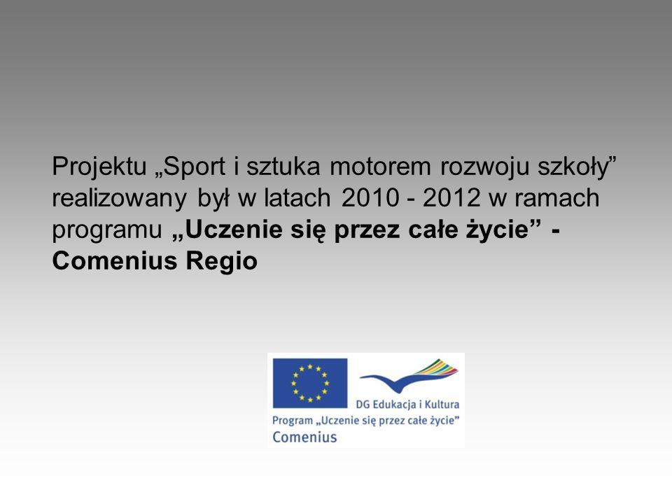 Projektu Sport i sztuka motorem rozwoju szkoły realizowany był w latach 2010 - 2012 w ramach programu Uczenie się przez całe życie - Comenius Regio