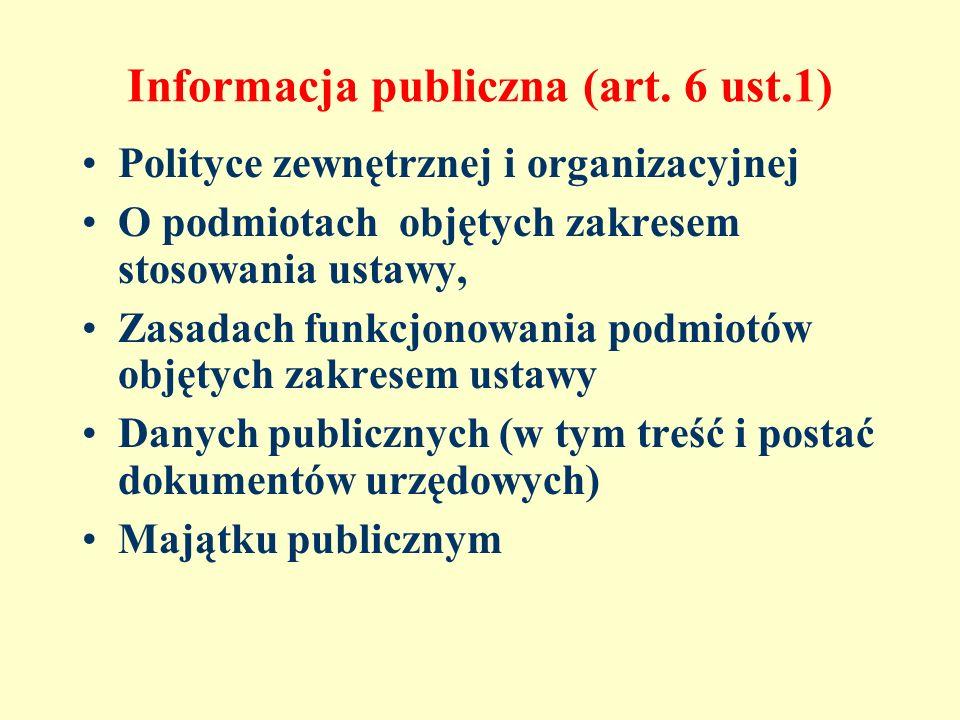 Źródło: Dostęp do informacji publicznej.Wdrażanie ustawy (red.prof.