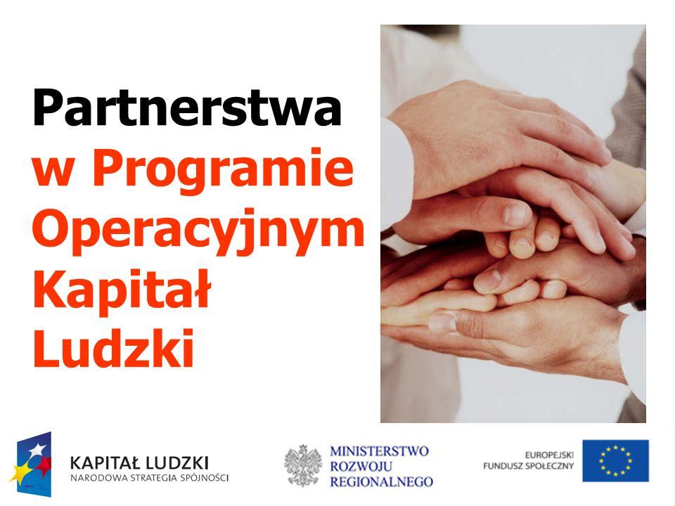 Partnerstwa w Programie Operacyjnym Kapitał Ludzki