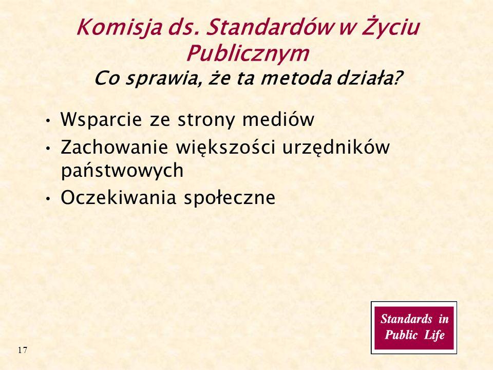 17 Komisja ds. Standardów w Życiu Publicznym Co sprawia, że ta metoda działa.