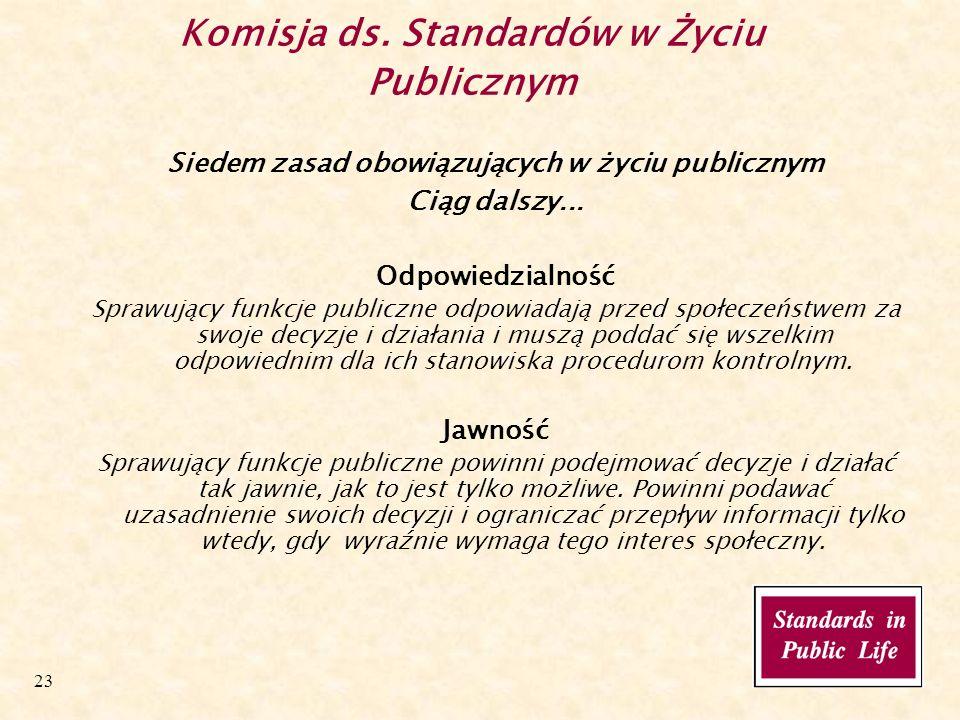 23 Komisja ds.