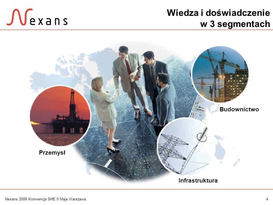 15 Nexans 2008 Konwencja SHE 9 Maja Warszawa Systemy kablowe dla przemysłu motoryzacyjnego Special cables POF cables Winding wires Precision cables Winding wires for electronic coils Magnebond wires Automotive harnesses Coaxial cables