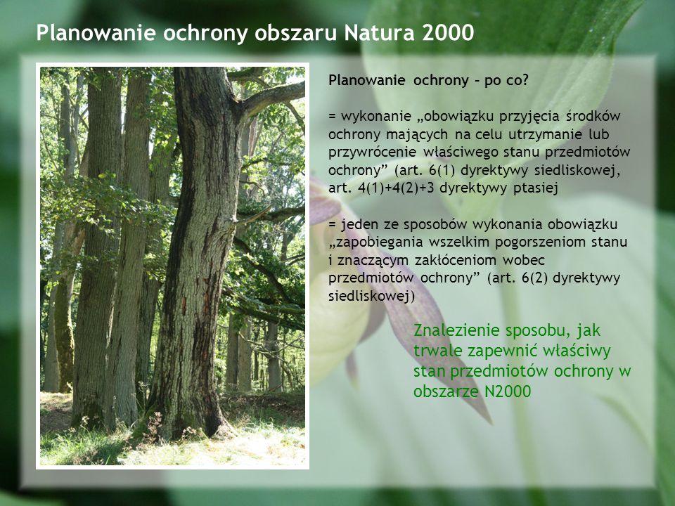 Planowanie ochrony obszaru Natura 2000 Planowanie ochrony – po co.