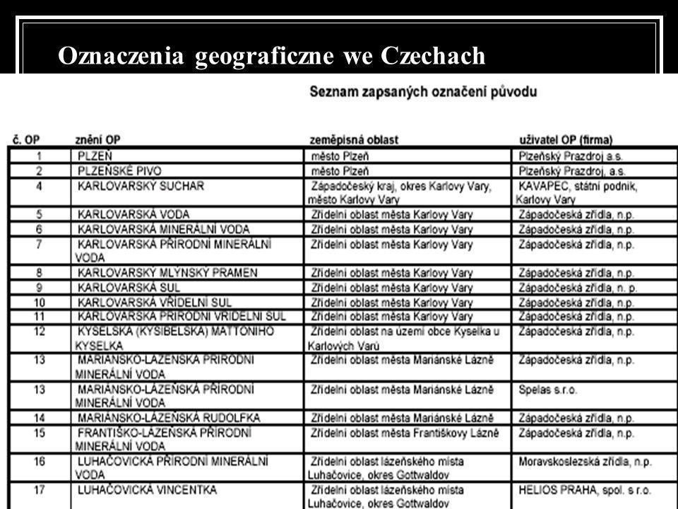 Oznaczenia geograficzne we Czechach
