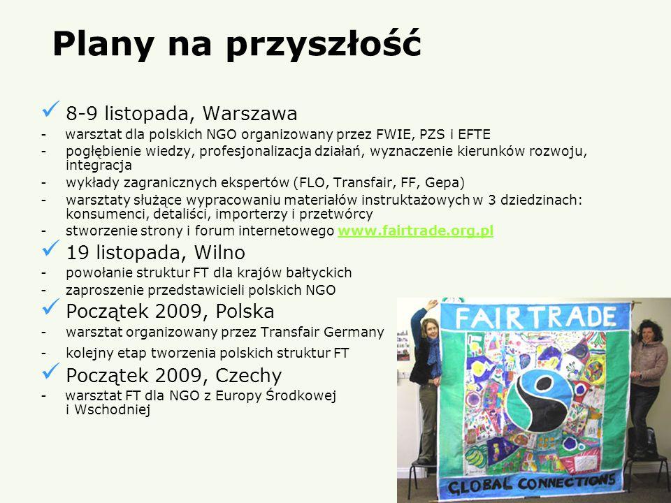 Plany na przyszłość 8-9 listopada, Warszawa - warsztat dla polskich NGO organizowany przez FWIE, PZS i EFTE -pogłębienie wiedzy, profesjonalizacja dzi