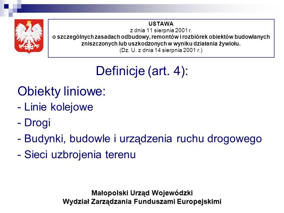 USTAWA z dnia 11 sierpnia 2001 r.
