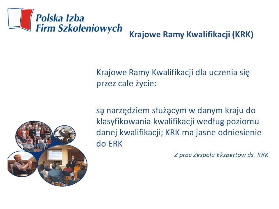 Krajowe Ramy Kwalifikacji (KRK) Krajowe Ramy Kwalifikacji dla uczenia się przez całe życie: są narzędziem służącym w danym kraju do klasyfikowani