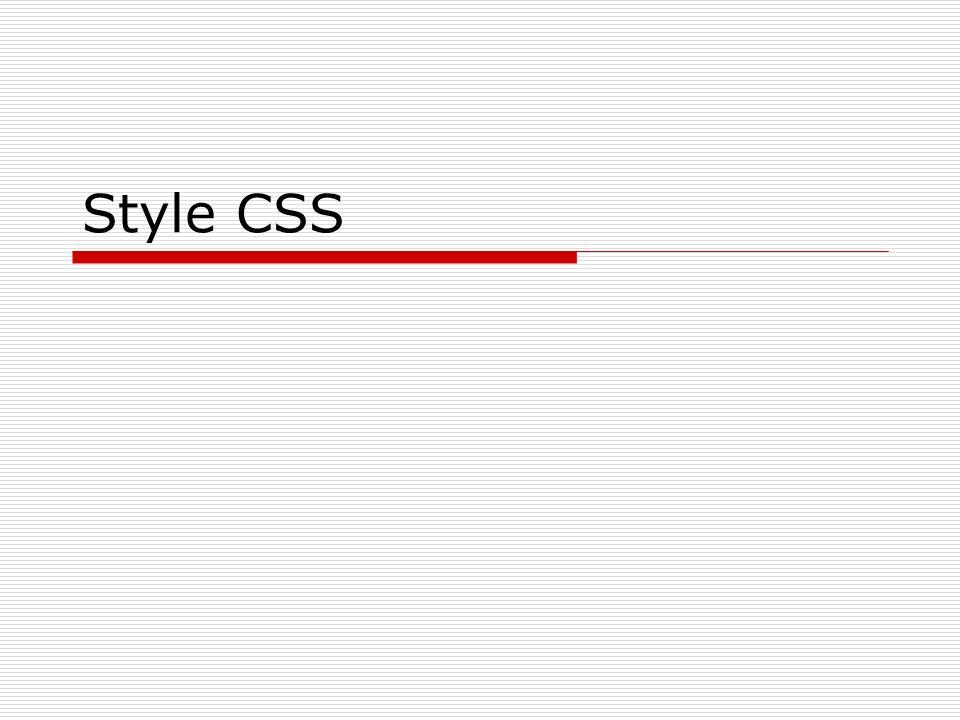 Style CSS