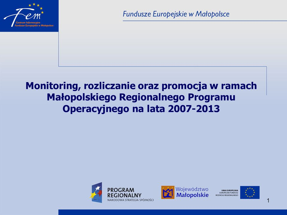 52 Promocja projektów w ramach MRPO