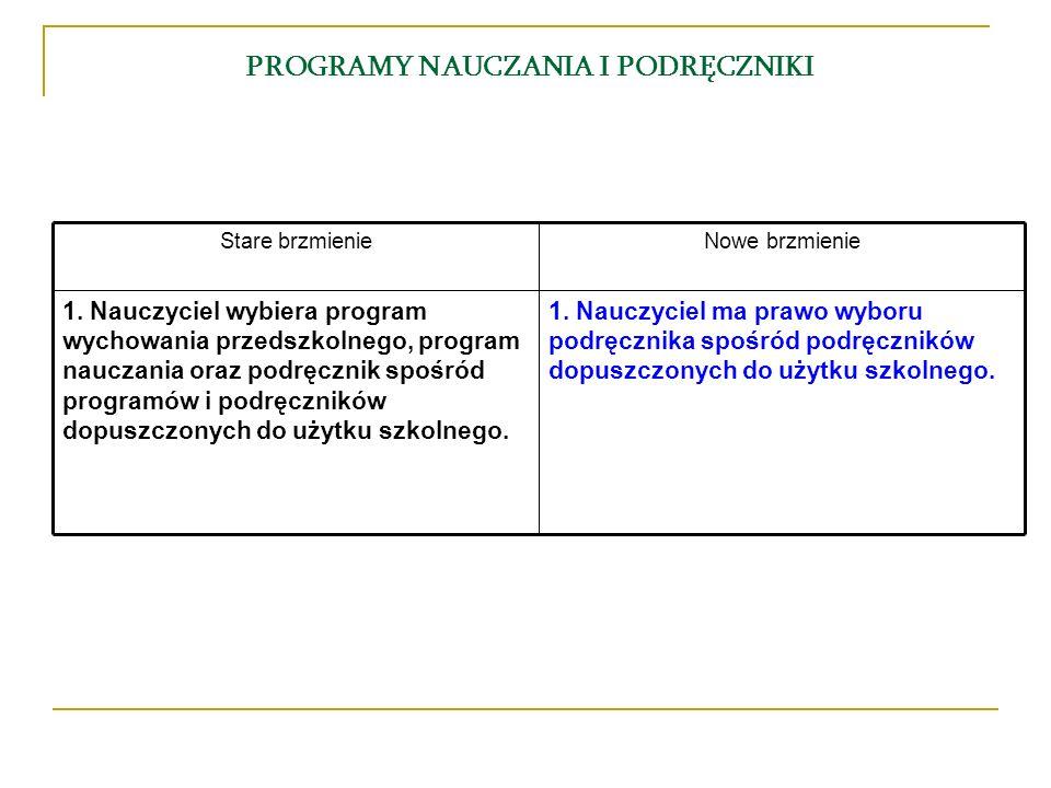 PROGRAMY NAUCZANIA I PODRĘCZNIKI 1.