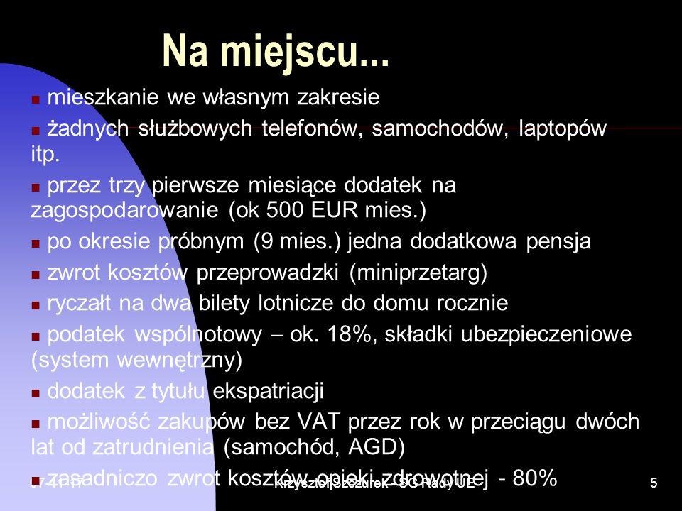 07-11-17Krzysztof Szczurek - SG Rady UE6 SPRAWY ZAWODOWE Organizacja sekcji tłumaczeniowej Problemy tłumaczeniowe język wyjściowy (EN, FR) język docelowy (PL) Terminologia