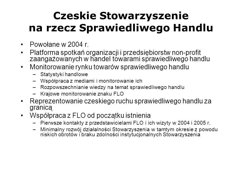 Czeskie Stowarzyszenie na rzecz Sprawiedliwego Handlu Powołane w 2004 r. Platforma spotkań organizacji i przedsiębiorstw non-profit zaangażowanych w h