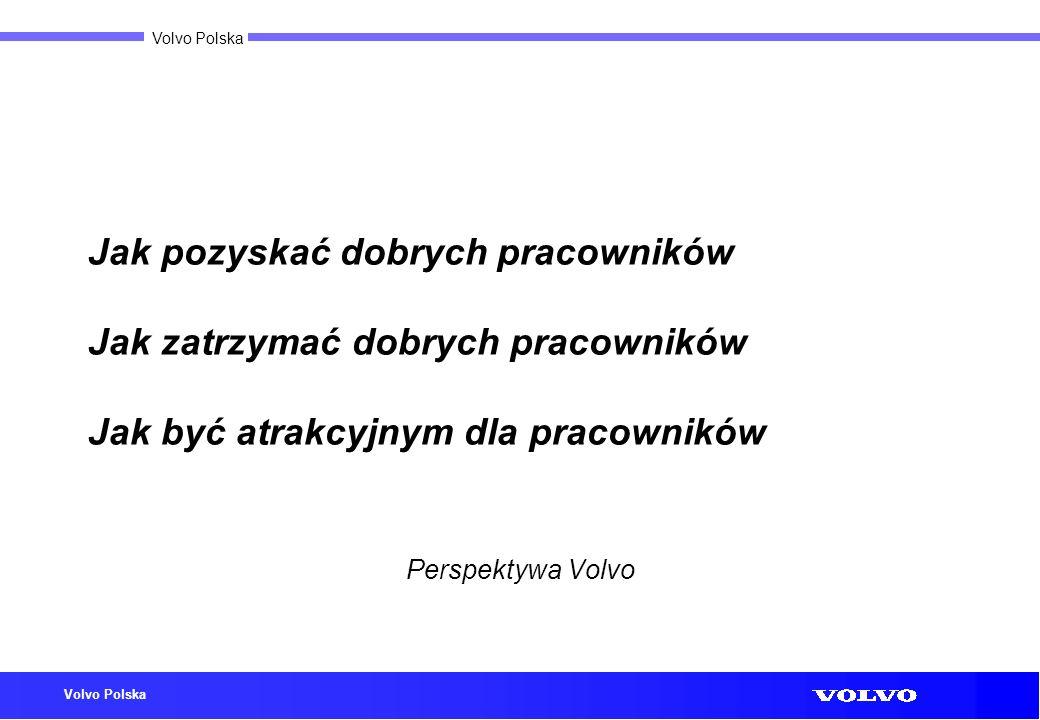 Volvo Polska Jak pozyskać dobrych pracowników Jak zatrzymać dobrych pracowników Jak być atrakcyjnym dla pracowników Perspektywa Volvo