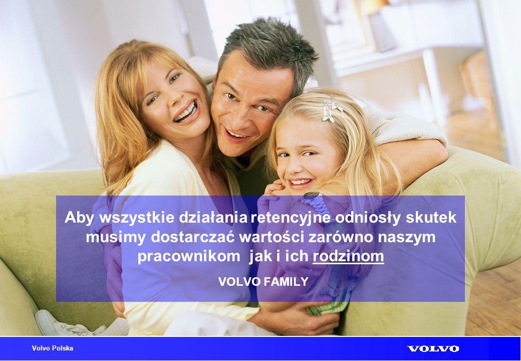 Volvo Polska Aby wszystkie działania retencyjne odniosły skutek musimy dostarczać wartości zarówno naszym pracownikom jak i ich rodzinom VOLVO FAMILY