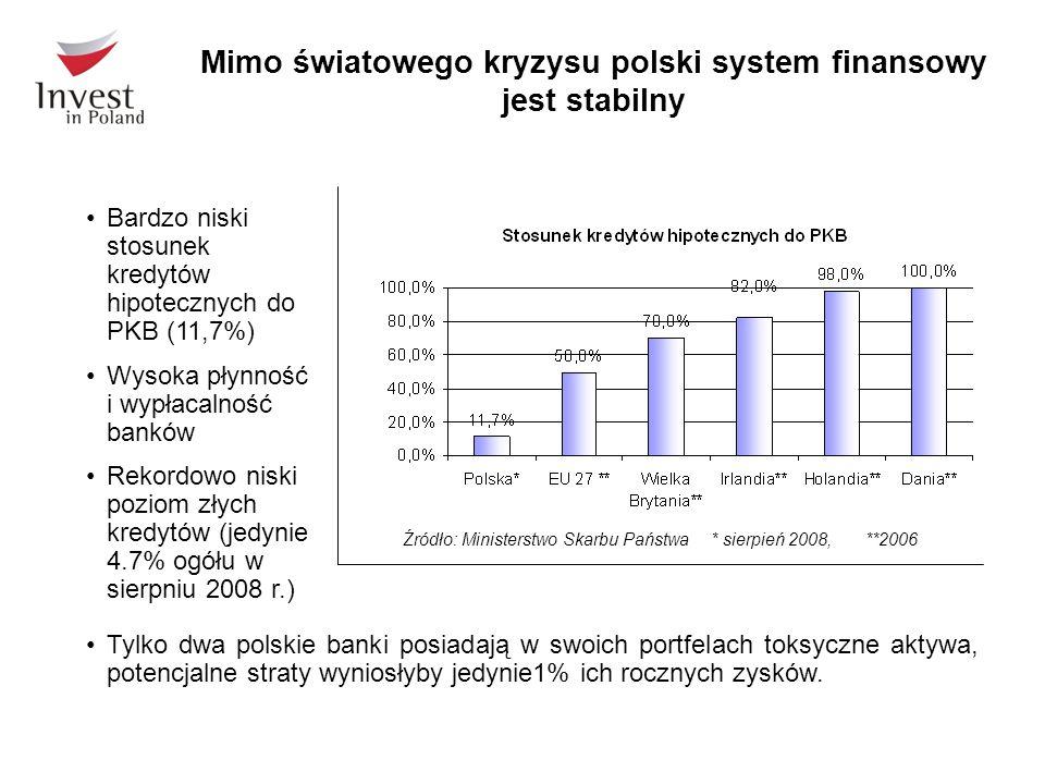 Tylko dwa polskie banki posiadają w swoich portfelach toksyczne aktywa, potencjalne straty wyniosłyby jedynie1% ich rocznych zysków. Mimo światowego k