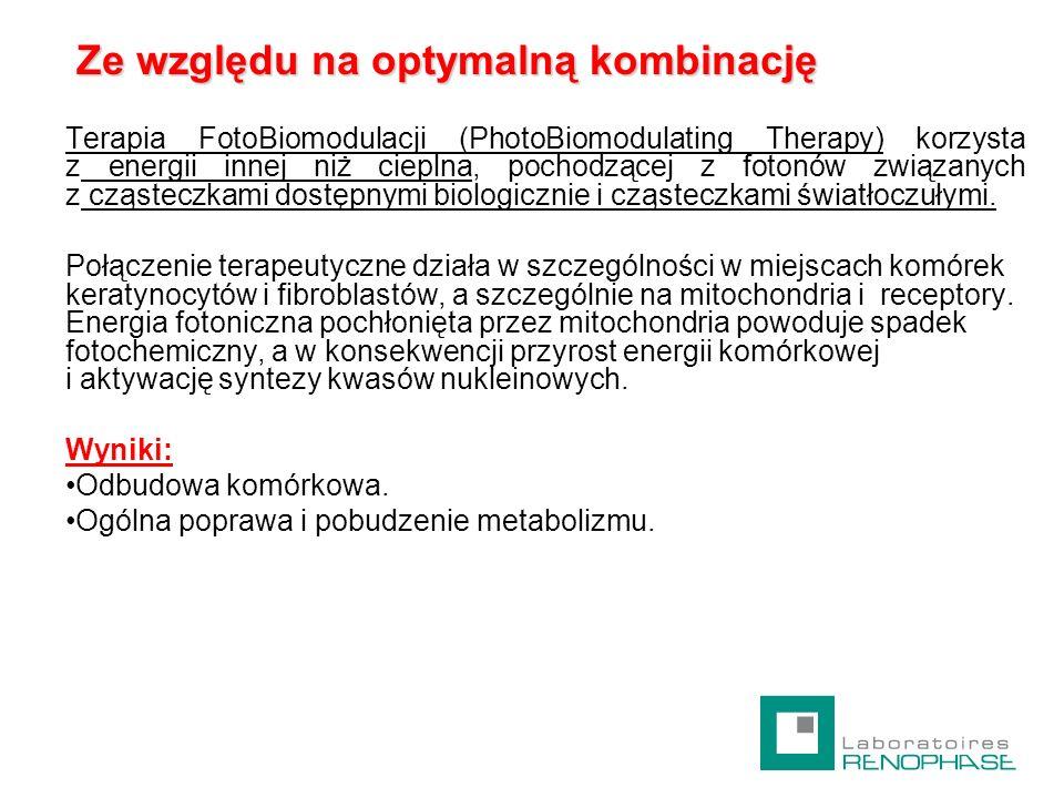Ze względu na optymalną kombinację Ze względu na optymalną kombinację Terapia FotoBiomodulacji (PhotoBiomodulating Therapy) korzysta z energii innej n
