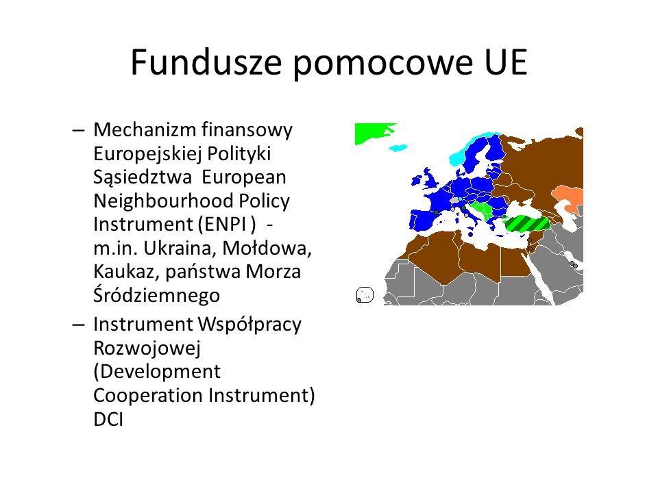 Fundusze pomocowe UE – Mechanizm finansowy Europejskiej Polityki Sąsiedztwa European Neighbourhood Policy Instrument (ENPI ) - m.in. Ukraina, Mołdowa,
