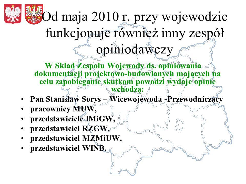 Od maja 2010 r. przy wojewodzie funkcjonuje również inny zespół opiniodawczy W Skład Zespołu Wojewody ds. opiniowania dokumentacji projektowo-budowlan