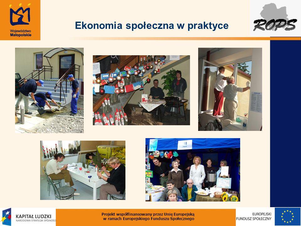 Projekt współfinansowany przez Unię Europejską w ramach Europejskiego Funduszu Społecznego Ekonomia społeczna w praktyce EKO Szkoła Życia w Wandzinie Fundacja Domy Wspólnoty Chleb Życia)