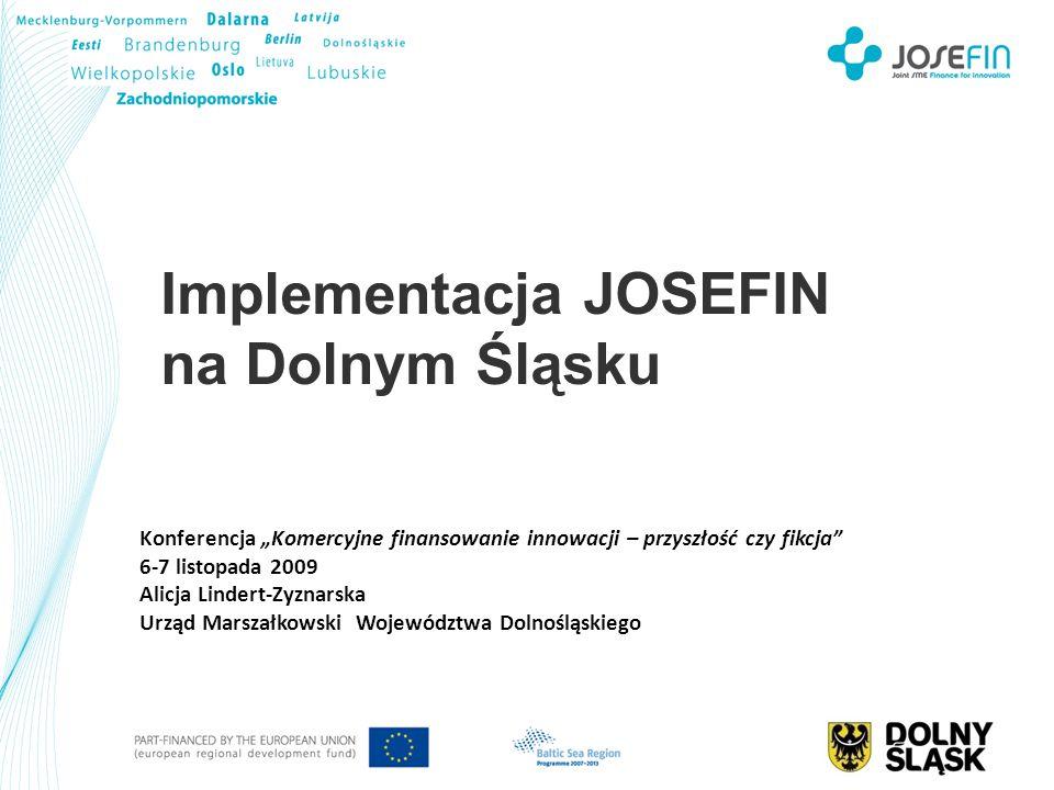 Konferencja Komercyjne finansowanie innowacji – przyszłość czy fikcja 6-7 listopada 2009 Alicja Lindert-Zyznarska Urząd Marszałkowski Województwa Doln