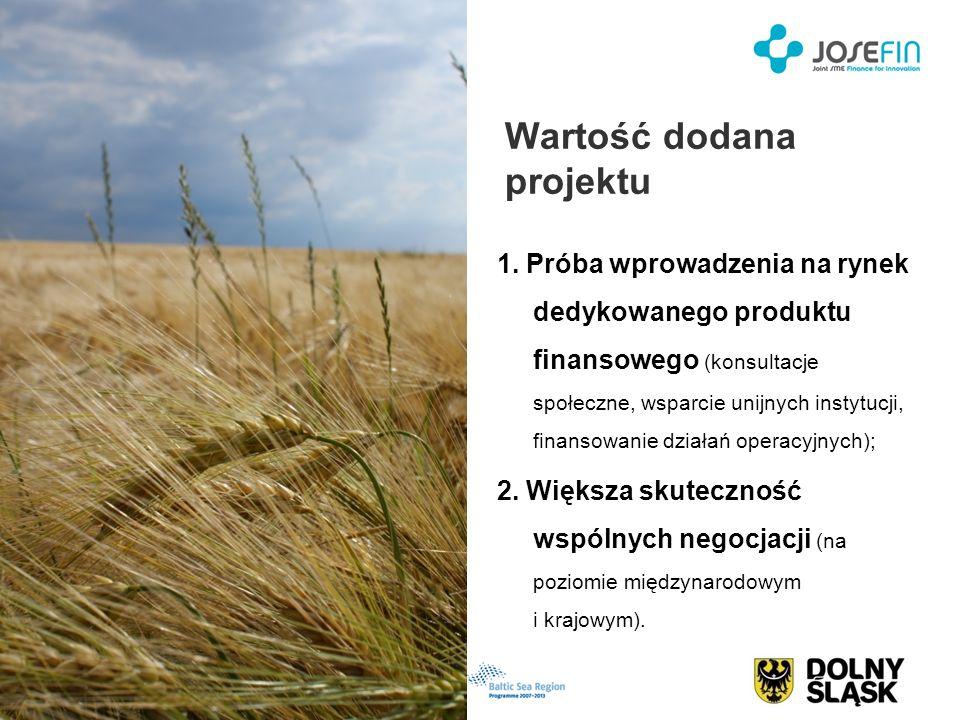 Wartość dodana projektu 1. Próba wprowadzenia na rynek dedykowanego produktu finansowego (konsultacje społeczne, wsparcie unijnych instytucji, finanso