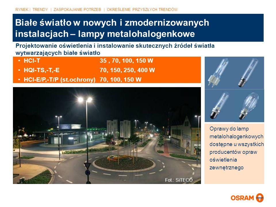 Białe światło w nowych i zmodernizowanych instalacjach – lampy metalohalogenkowe Fot.: SiTECO Projektowanie oświetlenia i instalowanie skutecznych źró