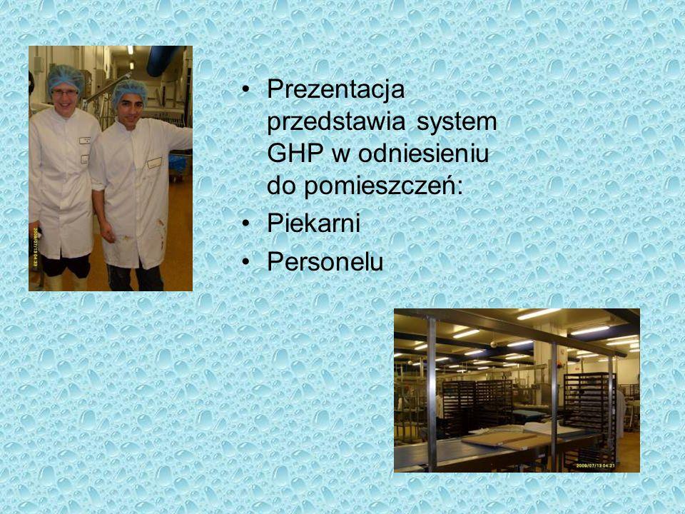 Prezentacja przedstawia system GHP w odniesieniu do pomieszczeń: Piekarni Personelu