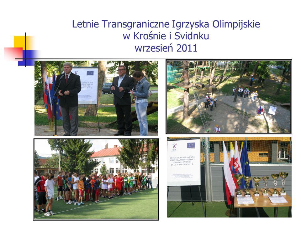 Letnie Transgraniczne Igrzyska Olimpijskie w Krośnie i Svidnku wrzesień 2011