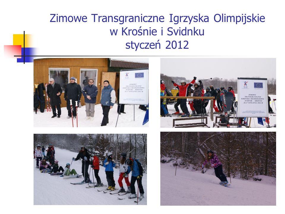 Zimowe Transgraniczne Igrzyska Olimpijskie w Krośnie i Svidnku styczeń 2012