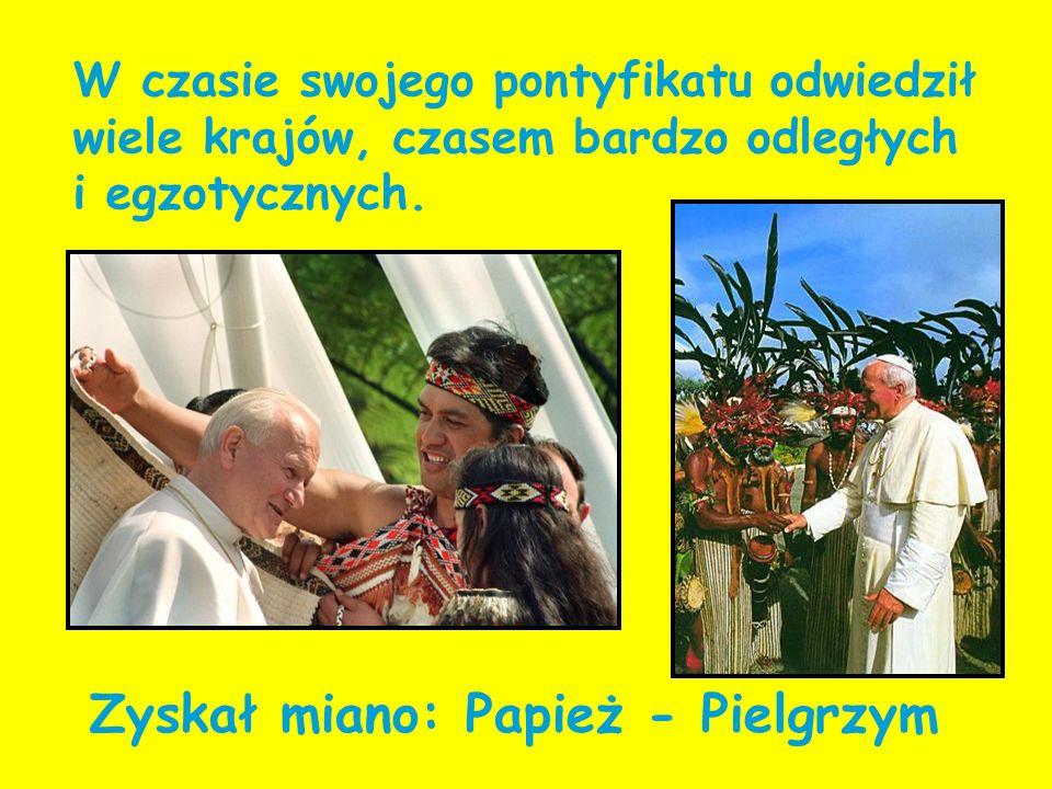 W czasie swojego pontyfikatu odwiedził wiele krajów, czasem bardzo odległych i egzotycznych. Zyskał miano: Papież - Pielgrzym