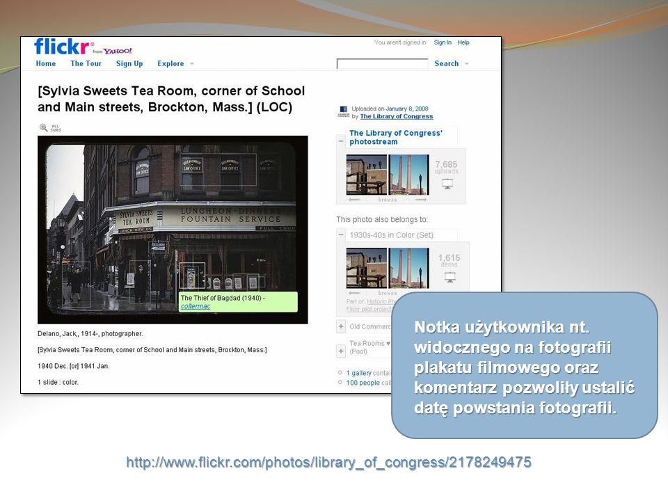 http://www.flickr.com/photos/library_of_congress/2178249475 Notka użytkownika nt. widocznego na fotografii plakatu filmowego oraz komentarz pozwoliły