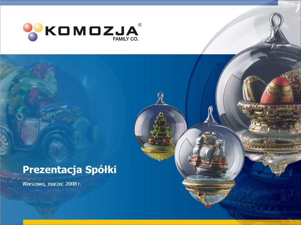 12 Główne rynki zbytu Dotychczasowa struktura sprzedaży (2007 r.) Docelowa przewidywana struktura sprzedaży (2010 r.) Prezentacja Spółki Warszawa, marzec 2008 r.