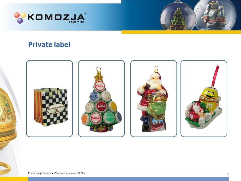 Private label 9 Prezentacja Spółki Warszawa, marzec 2008 r.