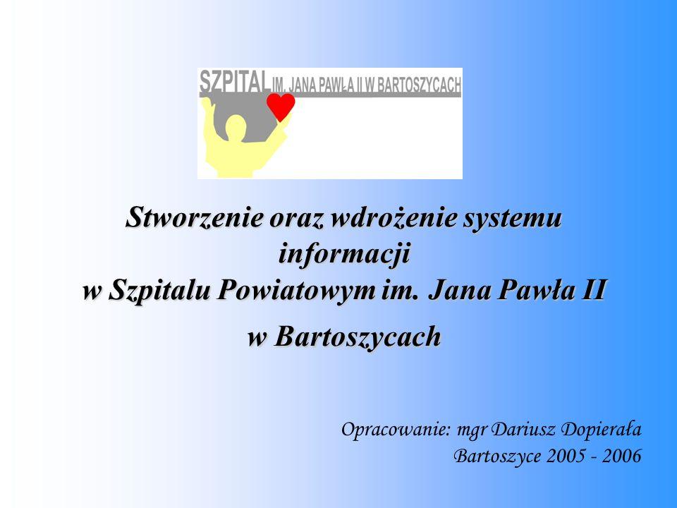 Stworzenie oraz wdrożenie systemu informacji w Szpitalu Powiatowym im.