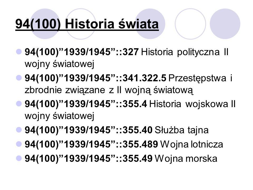 94(100) Historia świata 94(100)1939/1945::327 Historia polityczna II wojny światowej 94(100)1939/1945::341.322.5 Przestępstwa i zbrodnie związane z II