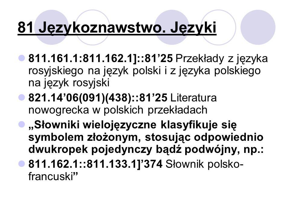 81 Językoznawstwo.