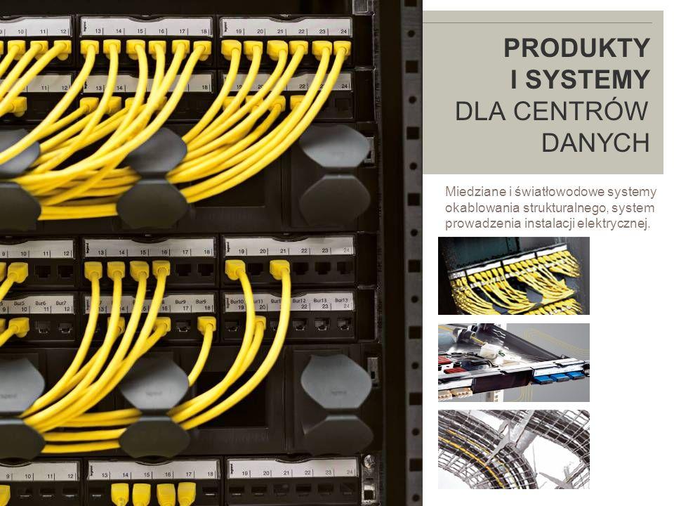 LEGRAND IN 2009 PRODUKTY I SYSTEMY DLA CENTRÓW DANYCH Miedziane i światłowodowe systemy okablowania strukturalnego, system prowadzenia instalacji elektrycznej.