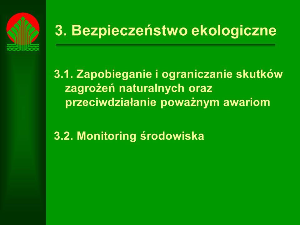 3.Bezpieczeństwo ekologiczne 3.1.