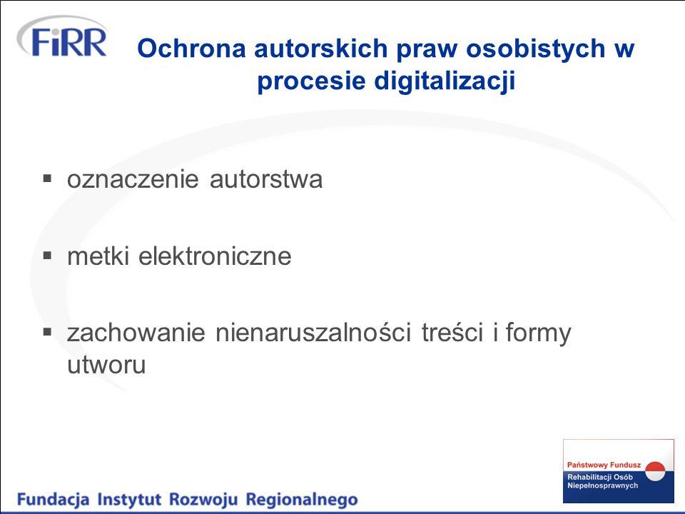 Autorskie prawa majątkowe treść prawa - wyłączne prawo do: korzystania z utworu wynagrodzenia za korzystanie rozporządzania nim na wszystkich polach eksploatacji pola eksploatacji a) w zakresie utrwalania i zwielokrotniania utworu (wytwarzanie określoną techniką egzemplarzy utworu, w tym techniką drukarską, reprograficzną, zapisu cyfrowego, techniką cyfrową) b) w zakresie obrotu oryginałem lub egzemplarzem, na którym utwór utrwalono (wprowadzanie do obrotu, użyczenie, najem), c) w zakresie rozpowszechnienia utworu (publiczne wykonanie, wystawienie, wyświetlenie, odtworzenie, nadawanie, udostępnienie za pośrednictwem Internetu).