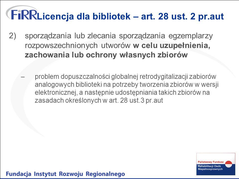 Licencja dla bibliotek – art.
