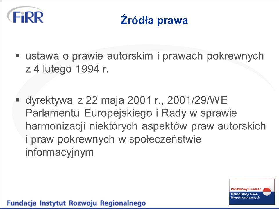 Przedmiot ochrony 1)Utwory -utwory literackie, naukowe, programy komputerowe, bazy danych.