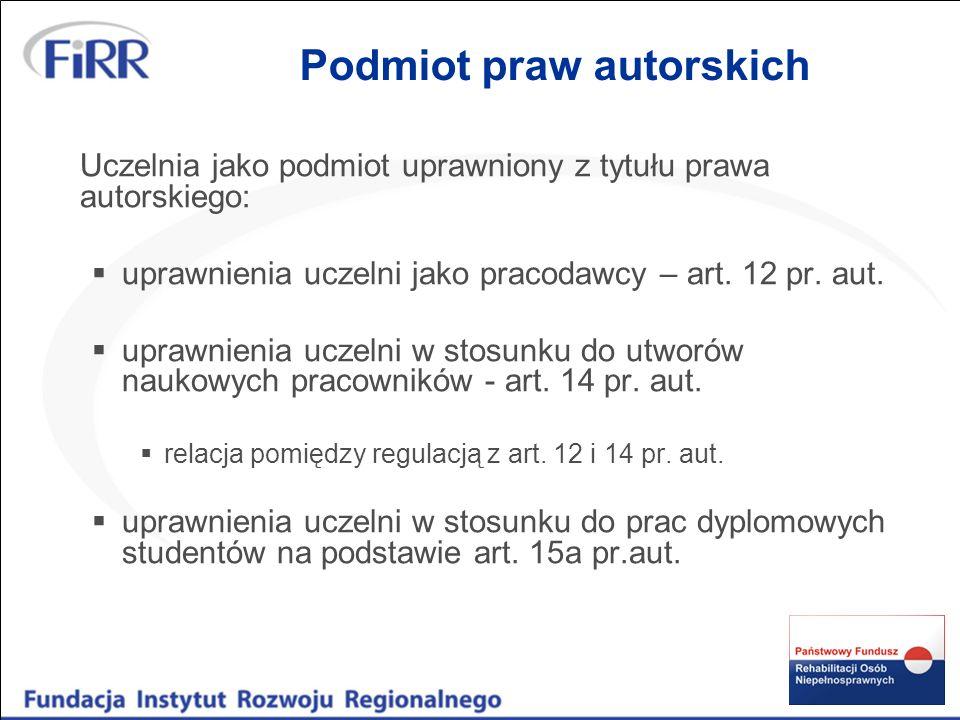 Treść prawa autorskiego autorskie prawa osobiste (art.