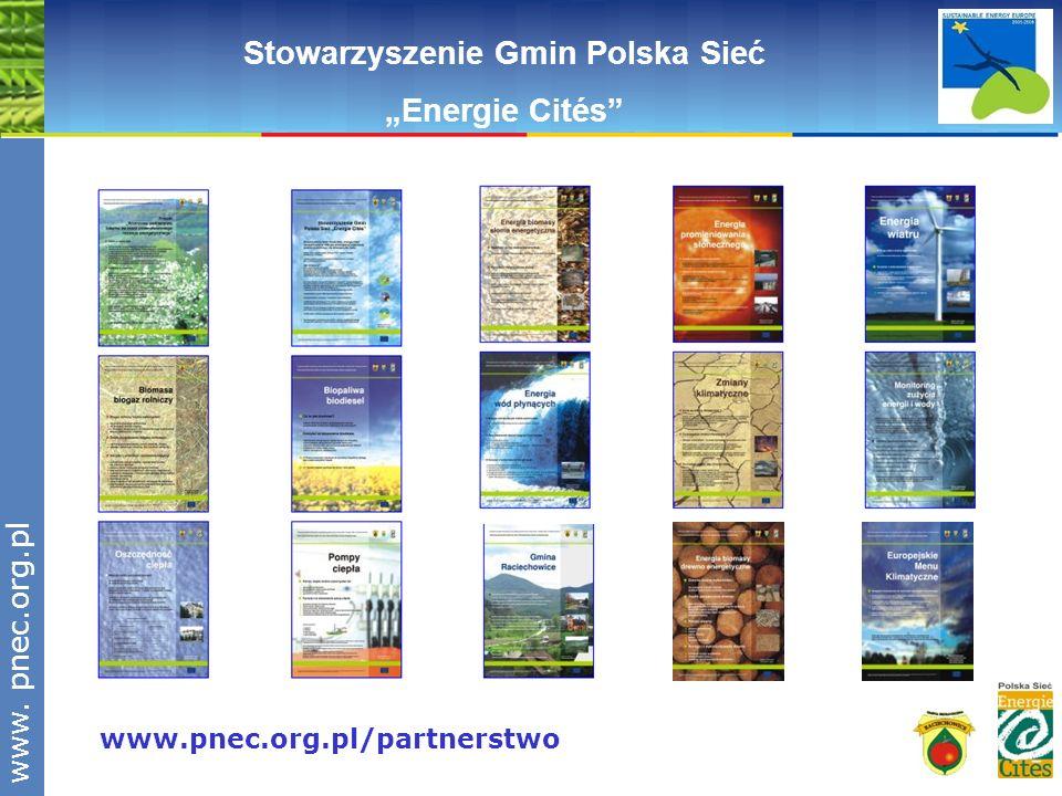 www.pnec.org.pl www.pnec.org.pl/partnerstwo Stowarzyszenie Gmin Polska Sieć Energie Cités