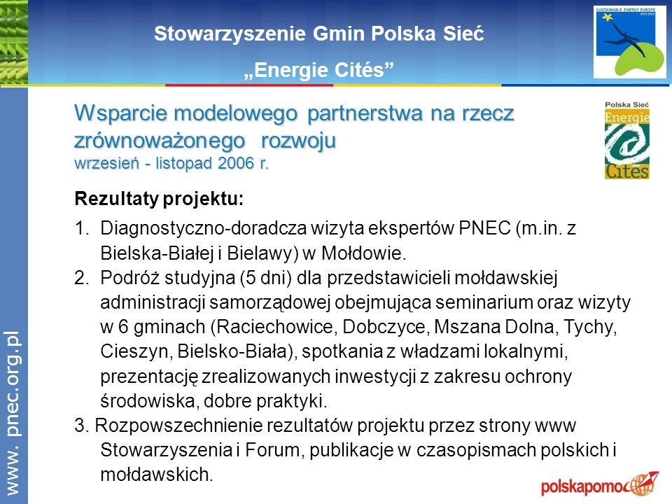 www.pnec.org.pl Stowarzyszenie Gmin Polska Sieć Energie Cités Rezultaty projektu: 1. Diagnostyczno-doradcza wizyta ekspertów PNEC (m.in. z Bielska-Bia