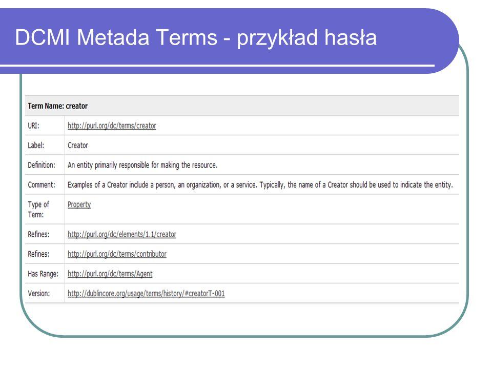 DCMI Metada Terms - przykład hasła