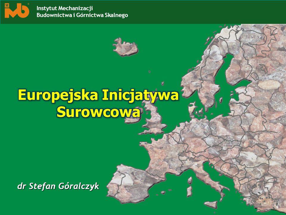 dr Stefan Góralczyk Instytut Mechanizacji Budownictwa i Górnictwa Skalnego