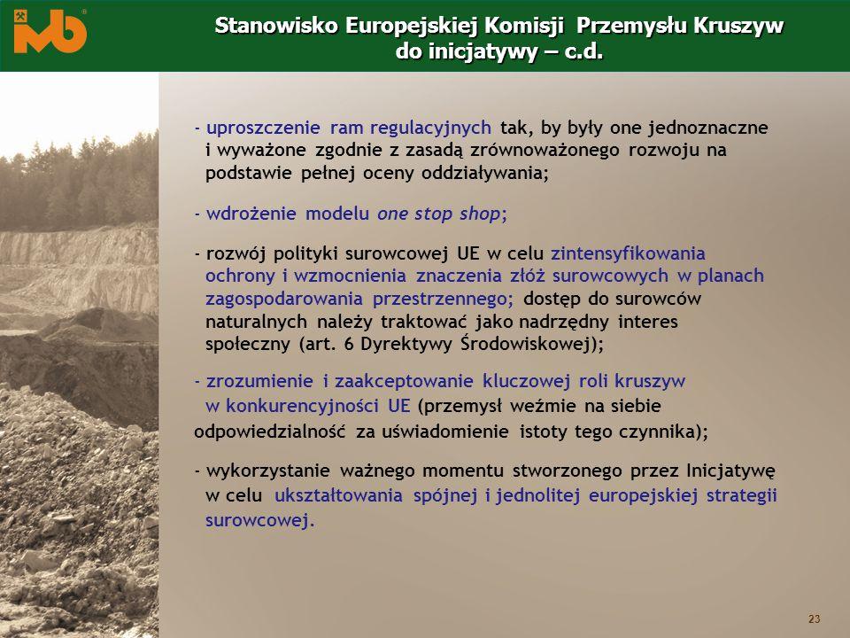 23 - uproszczenie ram regulacyjnych tak, by były one jednoznaczne i wyważone zgodnie z zasadą zrównoważonego rozwoju na podstawie pełnej oceny oddział