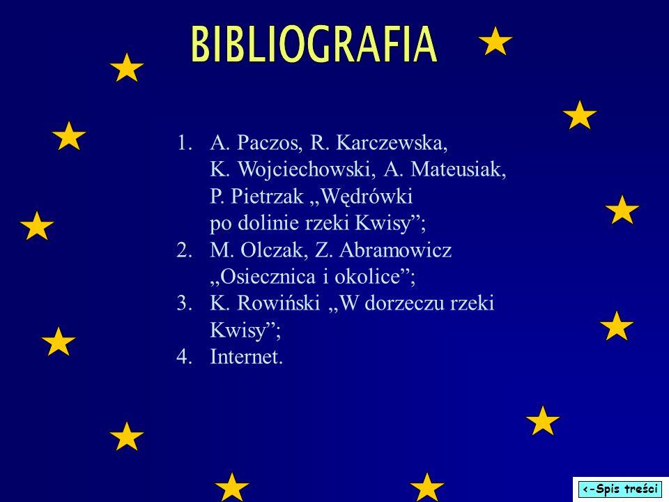1.A. Paczos, R. Karczewska, K. Wojciechowski, A. Mateusiak, P. Pietrzak Wędrówki po dolinie rzeki Kwisy; 2.M. Olczak, Z. Abramowicz Osiecznica i okoli